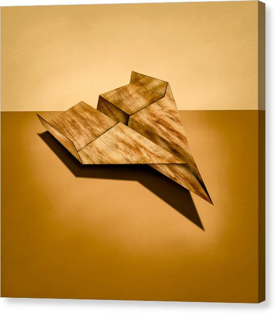 Toy Airplanes Canvas Print - Paper Airplanes Of Wood 5 by YoPedro