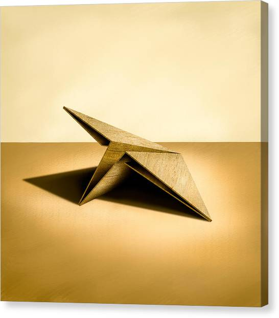 Wooden Canvas Print - Paper Airplanes Of Wood 7 by YoPedro