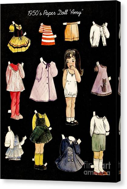 Paper Doll Amy Canvas Print