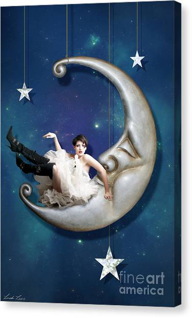 Canvas Print - Paper Moon by Linda Lees