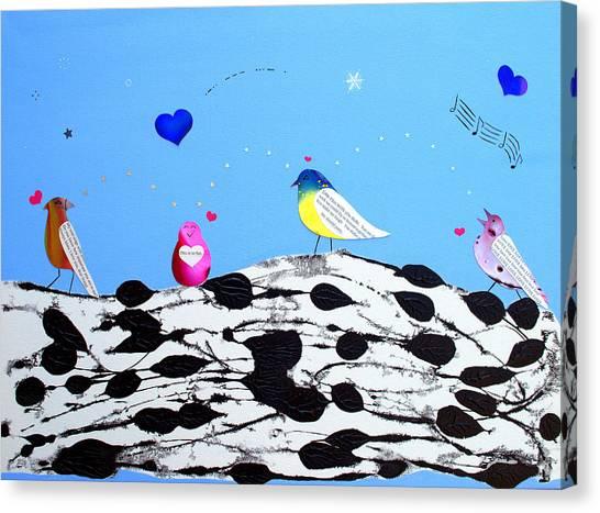 Paperbirch Friends Canvas Print