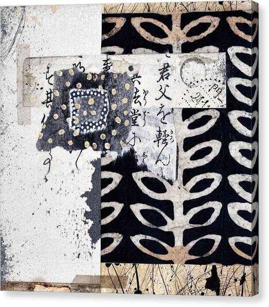 Torn Paper Collage Canvas Print - Papers by Carol Leigh