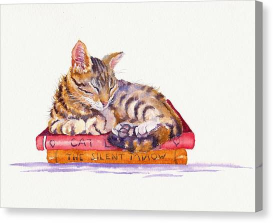 Cat Canvas Print - Paperweight by Debra Hall