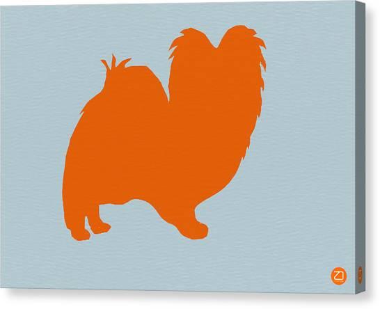 Puppies Canvas Print - Papillion Orange by Naxart Studio