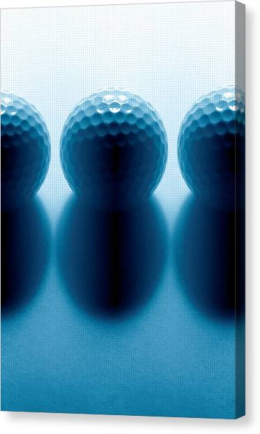 Hole In One Canvas Print - Par 3...golf Balls by Tom Druin