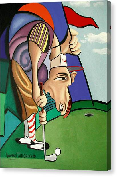 Hole In One Canvas Print - Par For The Course by Anthony Falbo