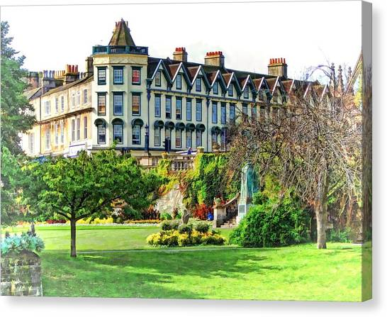 Parade Gardens Bath Canvas Print