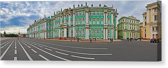 State Hermitage Canvas Print - Parade Ground In Front Of A Museum by Panoramic Images