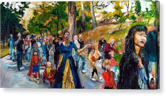 Parade IIi Canvas Print by Mia Merlin