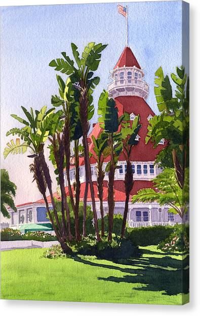 Islands Canvas Print - Paradise At The Hotel Del Coronado by Mary Helmreich