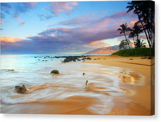 Mountain Sunrises Canvas Print - Paradise Dawn by Mike  Dawson