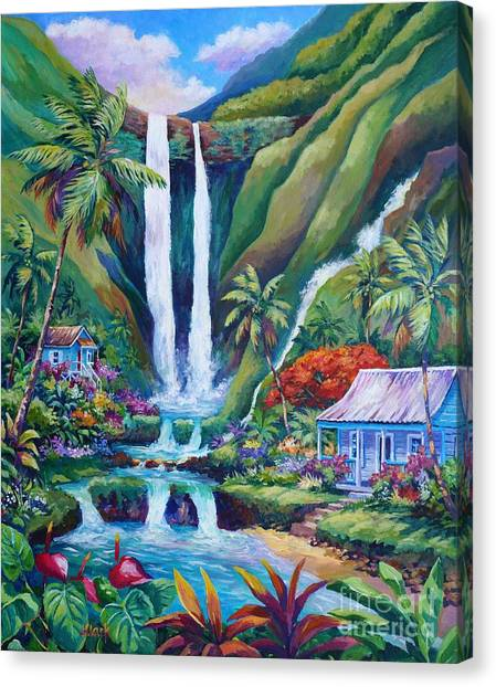 Tropical Rainforests Canvas Print - Paradise Falls by John Clark