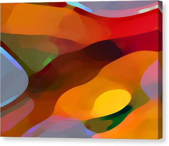 Shapes Canvas Print - Paradise Found by Amy Vangsgard