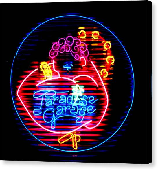Neon Canvas Print - Paradise Garage by Pacifico Palumbo