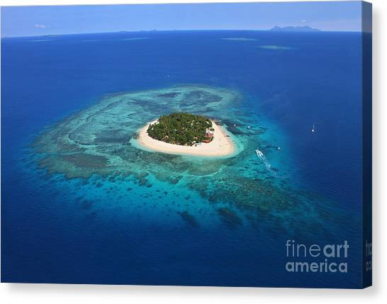 Fiji Canvas Print - Paradise Island In South Sea I by Lars Ruecker