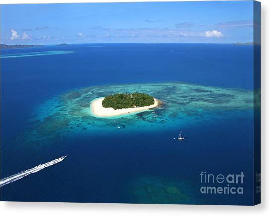 Fiji Canvas Print - Paradise Island In South Sea II by Lars Ruecker