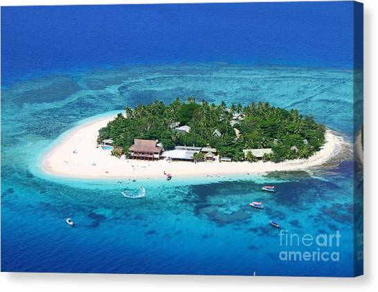 Fiji Canvas Print - Paradise Island In South Sea IIi by Lars Ruecker