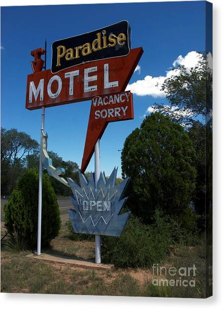 Paradise On Route 66 Canvas Print by Mel Steinhauer
