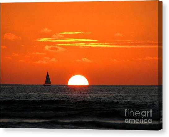 Paradise Sunset Sail Canvas Print