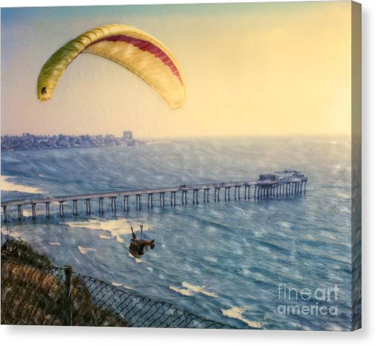 Paragliding Torrey Pines Canvas Print