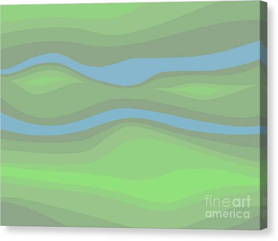 Parallel Streams Topo Canvas Print