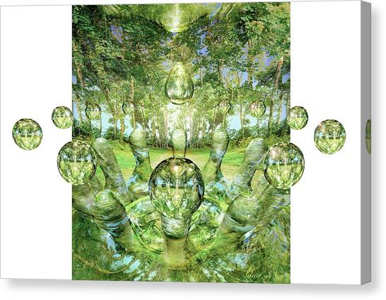 Coexist Canvas Print - Parallel Universes by Jean-francois Podevin/science Photo Library