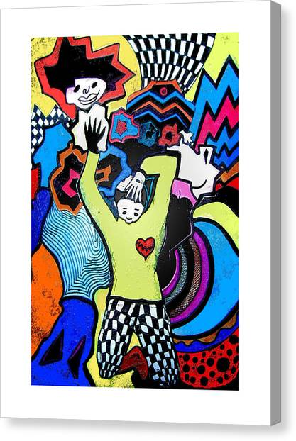 Expressionism Canvas Print - Paranoia by Andrew Williams