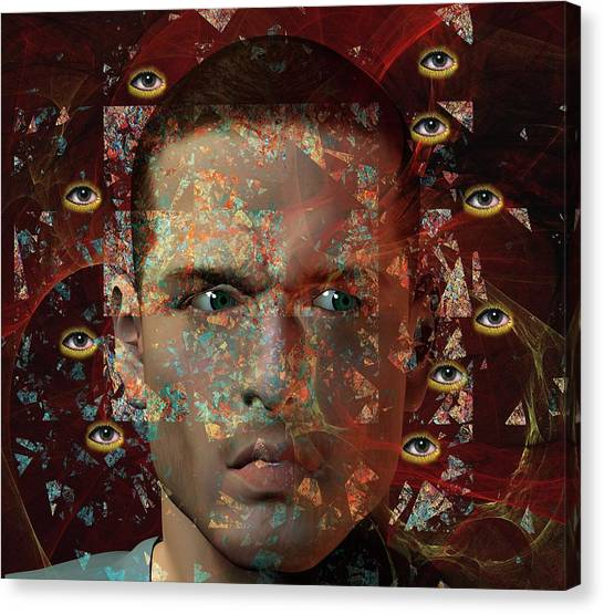 Big Brother Canvas Print - Paranoia by Carol & Mike Werner