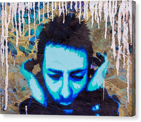 Paranoid Android Re-mix Canvas Print by Bobby Zeik