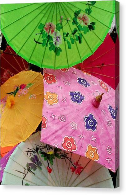 Parasols 2 Canvas Print