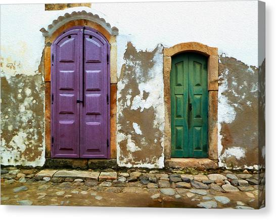 Paraty Doors Canvas Print