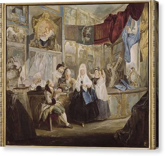 Fabric Of Society Canvas Print - Paret Y Alcazar, Luis 1746-1798. The by Everett