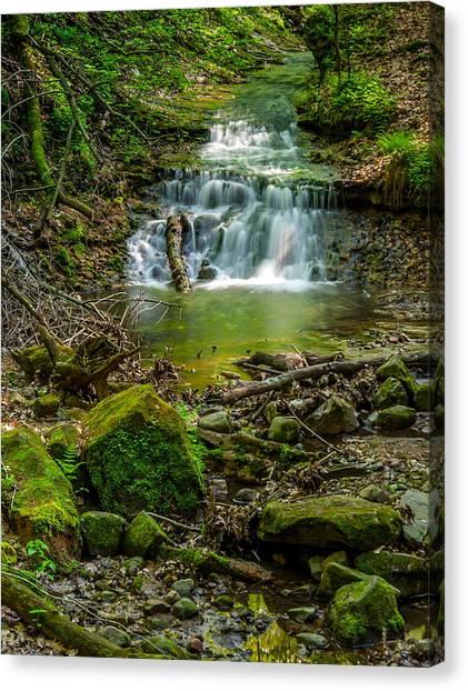 Parfrey's Glen Waterfall Canvas Print