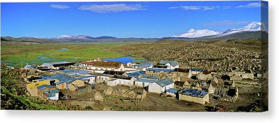 Andes Mountains Canvas Print - Parinacota, An Aymara Village In Lauca by Martin Zwick