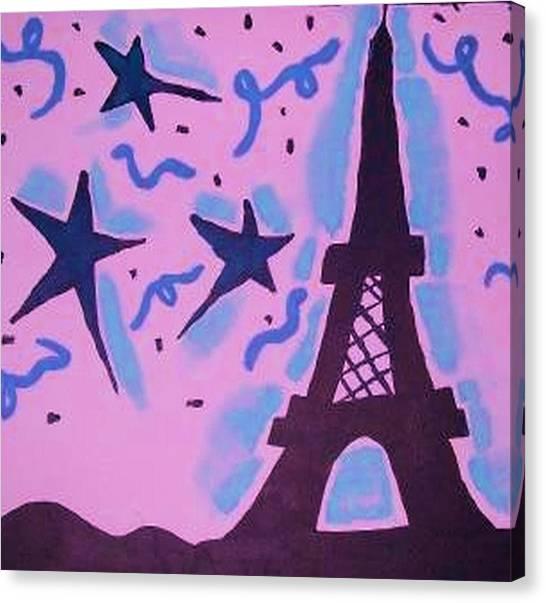 Paris Alive Canvas Print by Krystyn Lyon