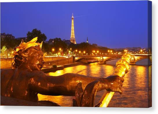 Paris At Night Canvas Print by Dan Breckwoldt