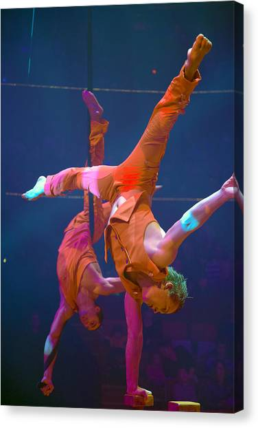 Paris Circus Acrobats Canvas Print