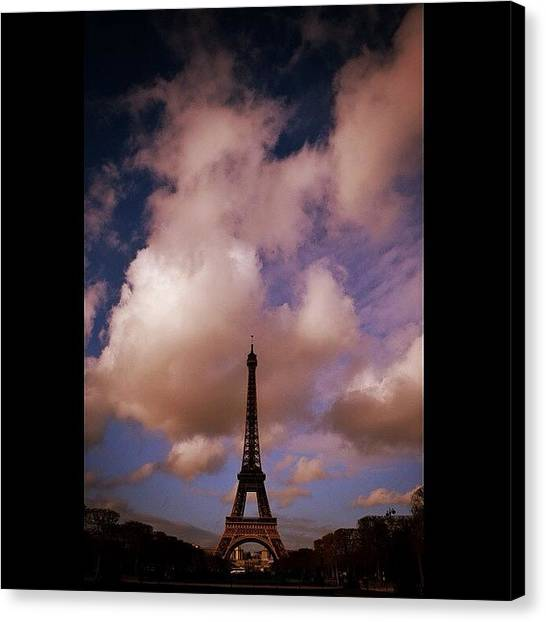 Paris Canvas Print - #paris #city #clouds #eiffel #eyfel by Ozan Goren