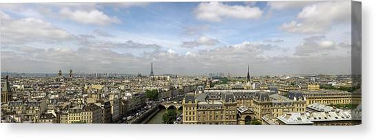 Paris City Skyline Canvas Print by Vii-photo