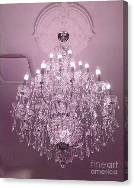 Chandelier Canvas Prints Fine Art America - Chandelier crystals pink