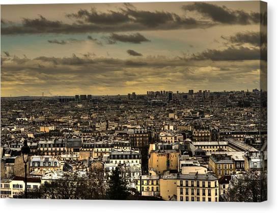 Paris Skyline Canvas Print - Paris by Dini Papavasileiou
