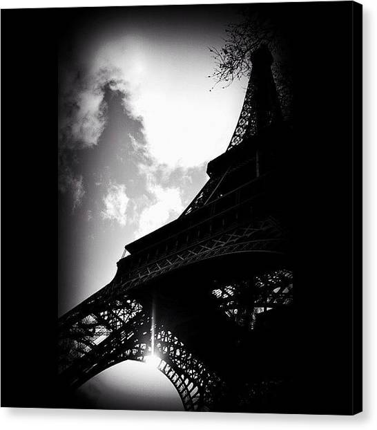 Paris Canvas Print - #paris #eiffel #eyfel #eiffeltower by Ozan Goren