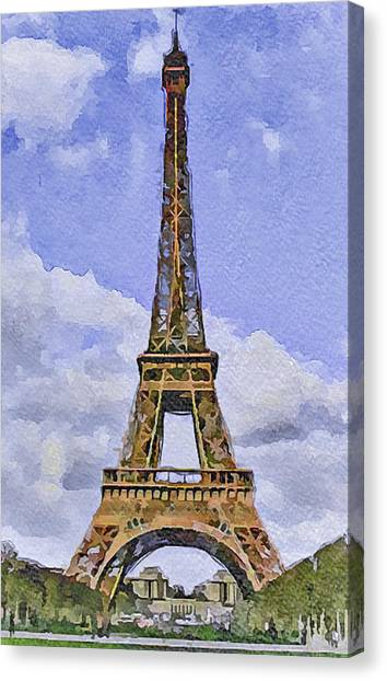 Paris Eiffel Tower 2 Canvas Print by Yury Malkov