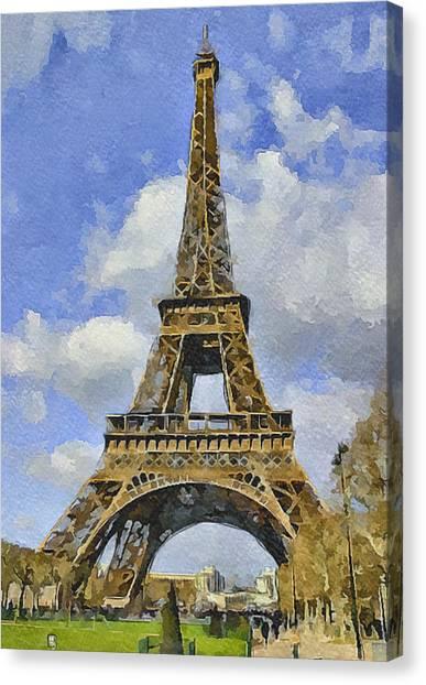 Paris Eiffel Tower 3 Canvas Print by Yury Malkov