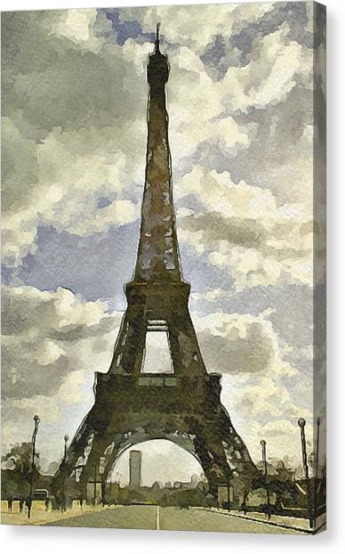 Paris Eiffel Tower 4 Canvas Print by Yury Malkov