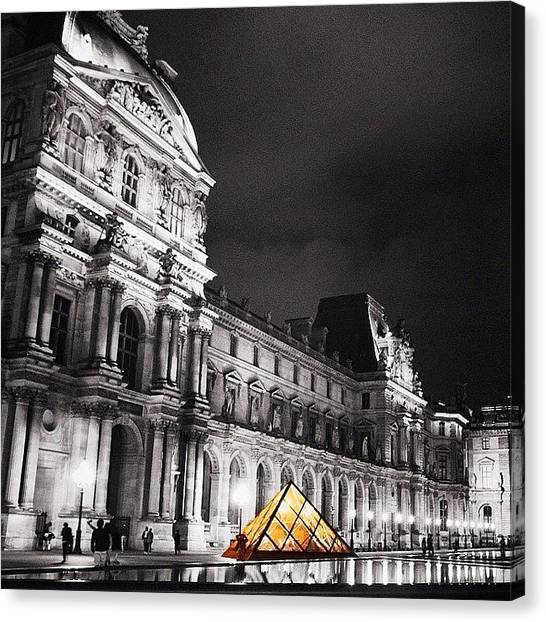 Paris Canvas Print - #paris #france #louvre #bw #architecture by Luisa Azzolini