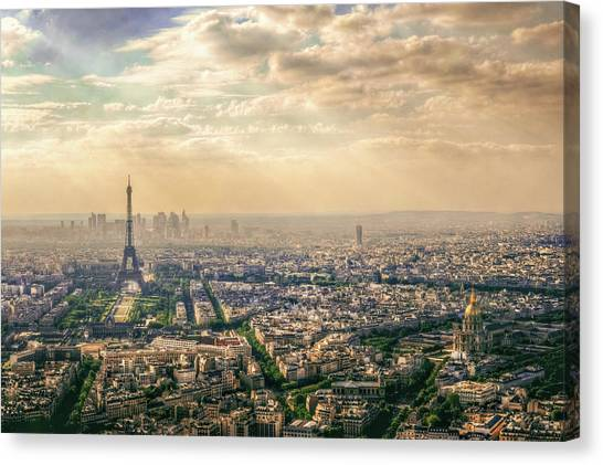 Eiffel Tower Canvas Print - Paris, France by Mohamed Kazzaz