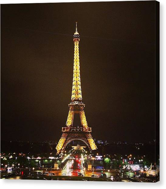 Paris Canvas Print - #paris #france #night #lights by Luisa Azzolini