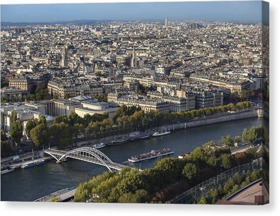 Canvas Print featuring the photograph Paris by Georgi Djadjarov