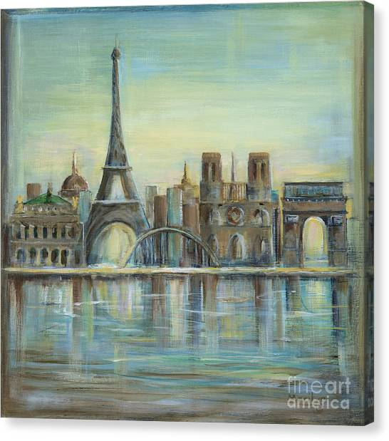 Sight Canvas Print - Paris Highlights by Marilyn Dunlap